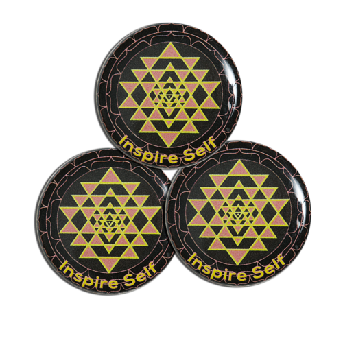 Image du Lot de 3 patches Shri Yantra + doming